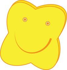 黄色可爱卡通星星图片素材