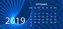2019年9月日历图片下载
