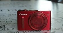 红色佳能相机图片素材