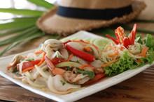 海鲜沙拉美食图片素材