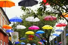 雨伞天幕装饰高清图片
