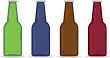 啤酒瓶背景高清图片