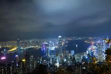 香港城市建筑夜景高清图片