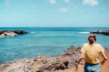 唯美蓝色大海风光精美图片