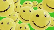 黄色卡通笑脸创意设计图片