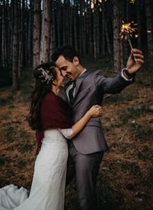 婚紗外景時尚寫真圖片素材