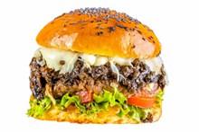 大型牛肉漢堡精美圖片