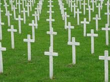 白色十字架公墓图片
