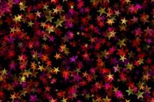 多彩星星图案背景高清图