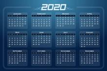 2020年日历表高清图