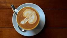 热奶拉花咖啡图片大全