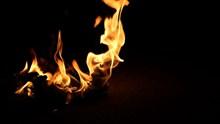 夜晚燃烧火焰图片大全