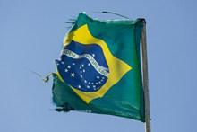 破旧巴西国旗高清图片