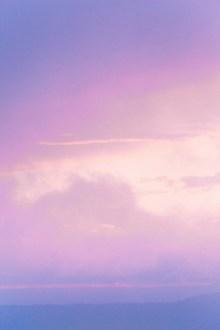 粉紫色天空唯美風景高清圖