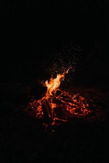燃烧的炭火高清图