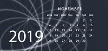 2019年11月日历表高清图片