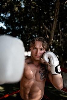 肌肉男训练拳击图片下载