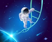 宇航员攀登太空创意高清图片
