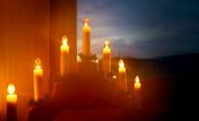 平安夜蜡烛烛光高清图