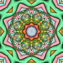 彩色花纹图案背景素材图片素材