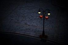 中國風路燈背景精美圖片