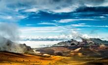 藍天白云山坡風景高清圖