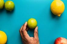 新鲜柠檬背景图片下载