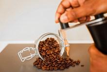 棕色新鲜咖啡豆 棕色新鲜咖啡豆大全图片