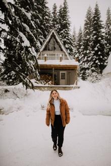 冬季户外美女高清图片