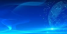 蓝色科技ppt背景素材高清图片