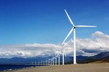 风力发电的风车图片素材