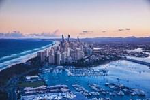 海边城市美景高清高清图片