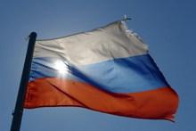 俄罗斯国旗飘扬高清图片