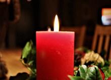 圣诞节红色蜡烛精美图片
