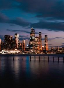 黎明的城市风景图片大全