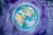 地球彩色绘画 地球彩色绘画大全图片