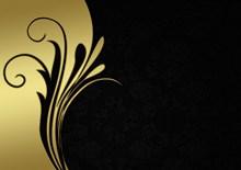 金色花纹名片背景精美图片