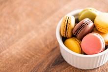 彩色马卡龙饼干摄影高清图片