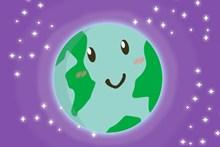 卡通另类可爱地球高清图