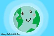 世界地球日主题海报图片素材