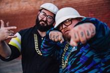 外国嘻哈兄弟高清图片