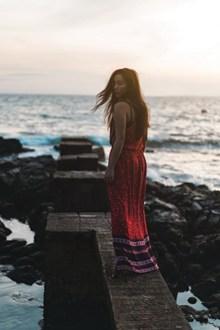 海边美女人体写真图片素材