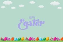 卡通彩蛋背景复活节图片