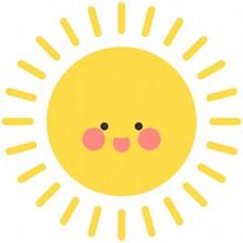黄色可爱卡通太阳图片素材