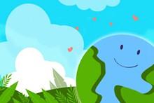 关爱地球创意卡通图片下载