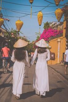 越南美女背影图片素材