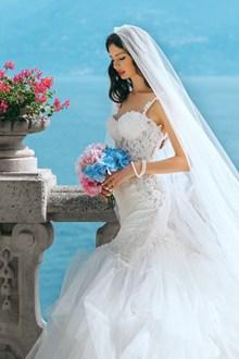 唯美鱼尾婚纱写真摄影图片素材