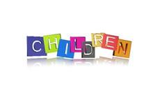 儿童节英文字体设计图片