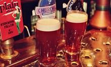 两杯啤酒饮品精美图片
