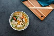清汤扁食面精美图片